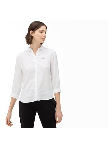 Lacoste Kadın  Gömlek CF0026.26A Beyaz